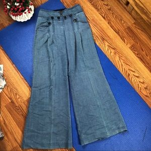 Anthropologie elevenses wide leg pants SZ 2